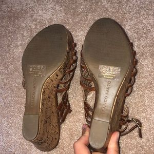 Franco Sarto Shoes - Size 8 Brown Wedge Heels.